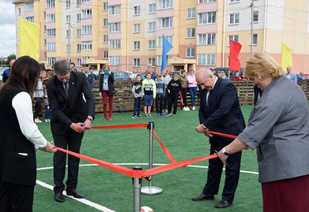 Открытие новой футбольной площадки. г.п.Шумилино.