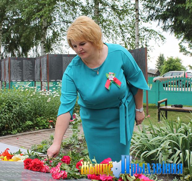 Мемориал в аг.Зароново Витебского района. Районнное мероприятие, посвящённое Дню Независимости.